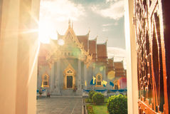 Beautiful Thai Temple Wat Benjamaborphit, temple in Bangkok, Tha Royalty Free Stock Images