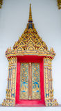 Beautiful  thai temple window. In thailand Royalty Free Stock Images