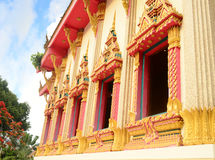 Beautiful thai temple window Stock Images