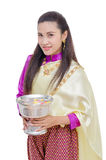 Beautiful Thai woman in traditional dress Royalty Free Stock Photography