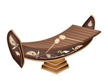 A Beautiful Thai Xylophone on Brown Background Stock Image