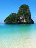 Beautiful Thailand. A limestone peak in crystal blue water Stock Photo