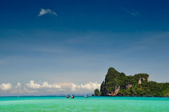 Beautiful Thailand. Beautiful landscape in phi phi island , Phuket, Thailand Royalty Free Stock Photography