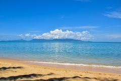 Beautiful Thailand sand beach and tropical sea in a clear blue sky day, Samui island. Surat Thani royalty free stock photos