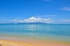 Beautiful Thailand sand beach and tropical sea in a clear blue sky day, Samui island. Surat Thani stock images