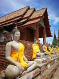 A beautiful of Thailand temple pagodas and Buddha statute in  that old historical`s Thailand country. A beautiful of Thailand temple pagodas and Buddha statute Stock Images