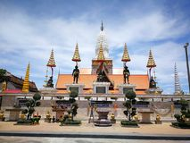 A beautiful of Thailand temple pagodas and Buddha statute in  that old historical`s Thailand country. A beautiful of Thailand temple pagodas and Buddha statute Royalty Free Stock Images