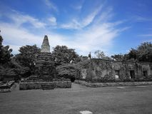 A beautiful Thailand temples, pagodas and Buddha statute in old historical`s Thailand country. At `Ayutthaya` Province Thailand Royalty Free Stock Photography