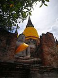 A beautiful Thailand temples, pagodas and Buddha statute in old historical`s Thailand country. At `Ayutthaya` Province Thailand Royalty Free Stock Photo