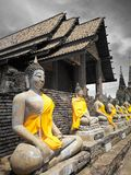 A beautiful Thailand temples, pagodas and Buddha statute in old historical`s Thailand country. At `Ayutthaya` Province Thailand Royalty Free Stock Image
