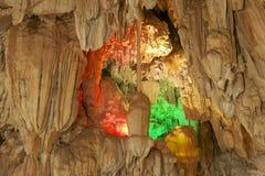 Beautiful Tham Jang cave, Vang Vieng, Laos.  Royalty Free Stock Photography