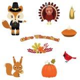 Beautiful Thanksgiving Icons Royalty Free Stock Image