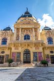 Beautiful theater from a famous hungarian city Pecs. 27. 08. 2018 Hungary.  royalty free stock photo