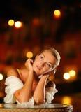 Beautiful thinking woman Stock Photo