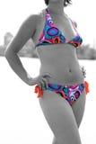 Beautiful thong bikini model. Beautiful young sexy bikini model Stock Photos