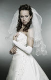 Beautiful thoughtful bride Royalty Free Stock Photo