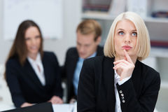 Beautiful thoughtful business woman Royalty Free Stock Image