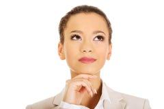 Beautiful thoughtful businesswoman. Stock Image