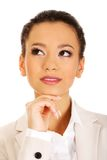 Beautiful thoughtful businesswoman. Royalty Free Stock Images