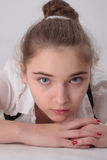 Beautiful thoughtful girl Stock Photography