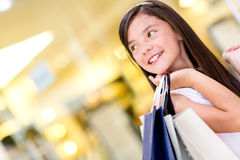 Beautiful shopping girl Royalty Free Stock Photo