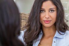 Beautiful Thoughtful Hispanic Woman Royalty Free Stock Image