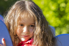 Beautiful and thoughtful little girl Royalty Free Stock Images