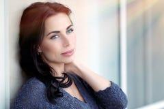 Beautiful thoughtful woman Stock Image