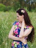 Beautiful  thoughtful woman Royalty Free Stock Photography