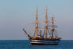 A beautiful three-masted sailboat Stock Photos