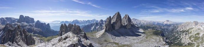 The beautiful three peaks of Lavaredo Royalty Free Stock Photography