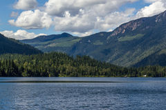 Beautiful Three Valley Lake in the mountains. Near Revelstoke British Columbia Canada Stock Photos
