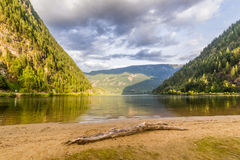 Beautiful Three Valley Lake in the mountains. Near Revelstoke British Columbia Canada Royalty Free Stock Images