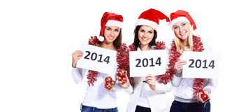 Beautiful three women Stock Photos