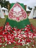 Beautiful throne in Tyler Rose garden Texas USA. Beautiful throne in Tyler Rose garden , 85th Texas Rose Festival USA 2018 stock image