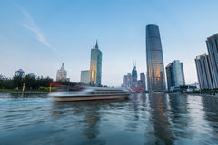 Beautiful tianjin cityscape at dusk Stock Photography