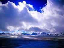 Beautiful Tibet Plateau,Snow capped mountains and rivers Stock Photography