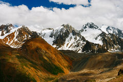 Beautiful Tien shan peaks and mountains near Almaty. Dramatic ov Stock Photo