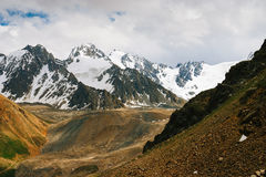 Beautiful Tien shan peaks and mountains near Almaty. Stock Images