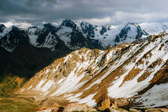 Beautiful Tien shan peaks and mountains near Almaty. Royalty Free Stock Photography