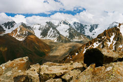 Beautiful Tien shan peaks and mountains near Almaty. Royalty Free Stock Image