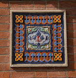 Beautiful tile. As a part of historical building Stock Image