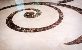 Beautiful tile and marble floor Royalty Free Stock Image