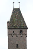 Beautiful tile roof of an old church Stock Images