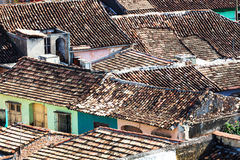 Tiled roofs in the city Stock Photos