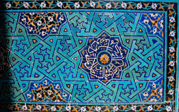 Beautiful tiled wall with patterns of Middle East Royalty Free Stock Photography