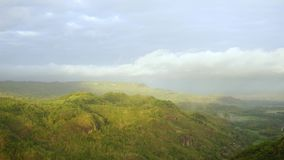 Beautiful time lapse of Mangunan hill landscape stock video
