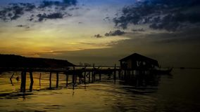 Beautiful time lapse near the jetty at Jelutong Penang Malaysia. Early in the morning stock footage
