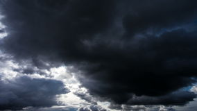 Beautiful time lapse storm clouds, clouds, sky before the storm stock footage