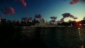 Beautiful time lapse sunrise over Sydney Opera House, dolly shot stock video